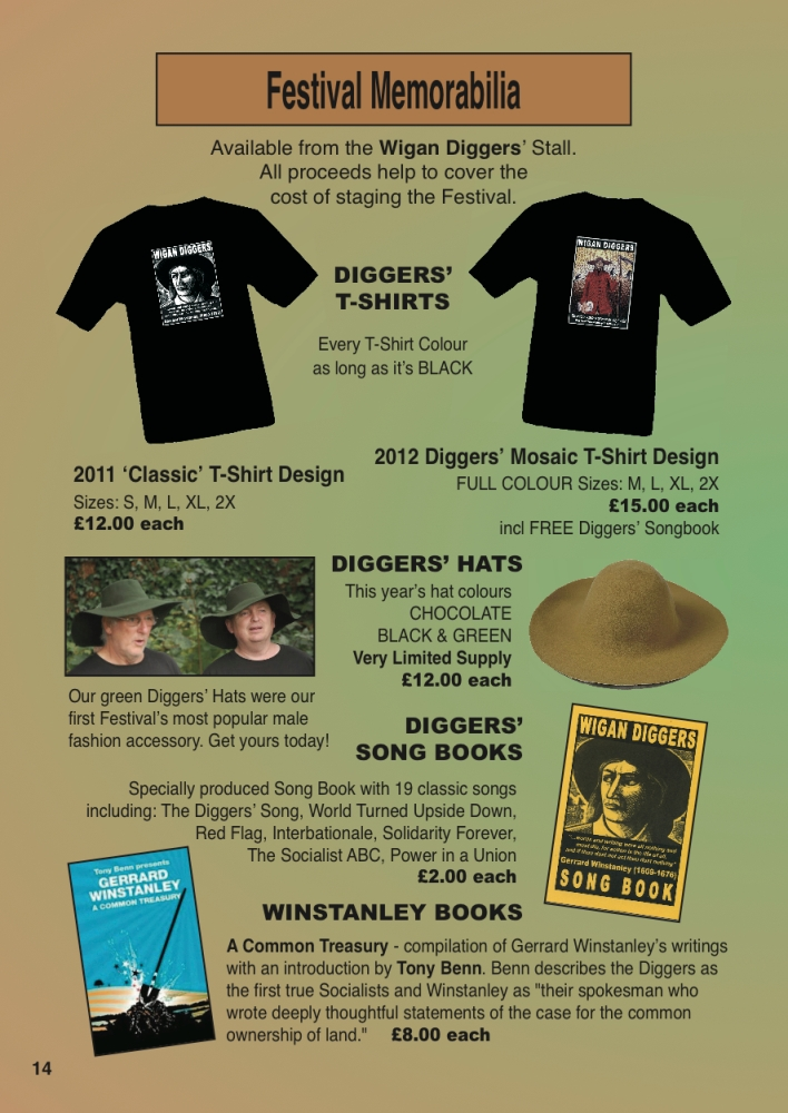 Wigan Diggers' T-Shirts & Songbooks (3/3)