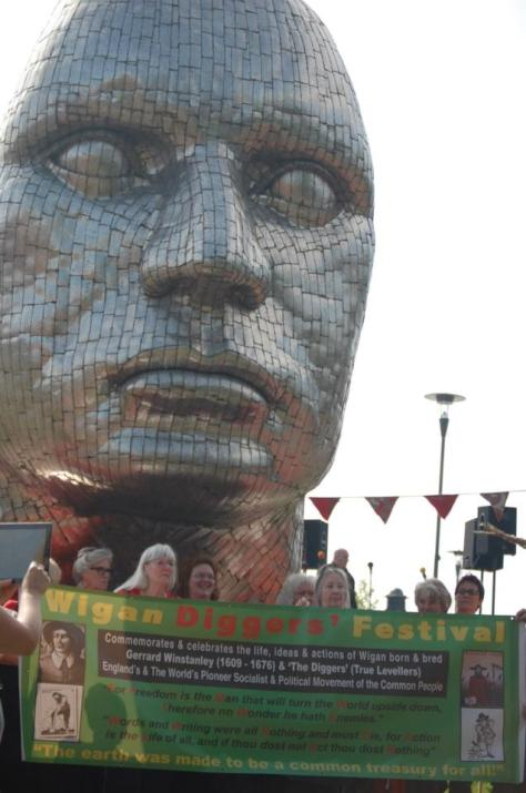 Face of Wigan & Festival Banner