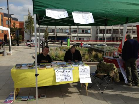 Preston Against Fracking Campaign Stall