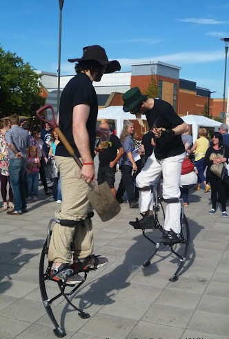 Wigan Diggers on Stilts