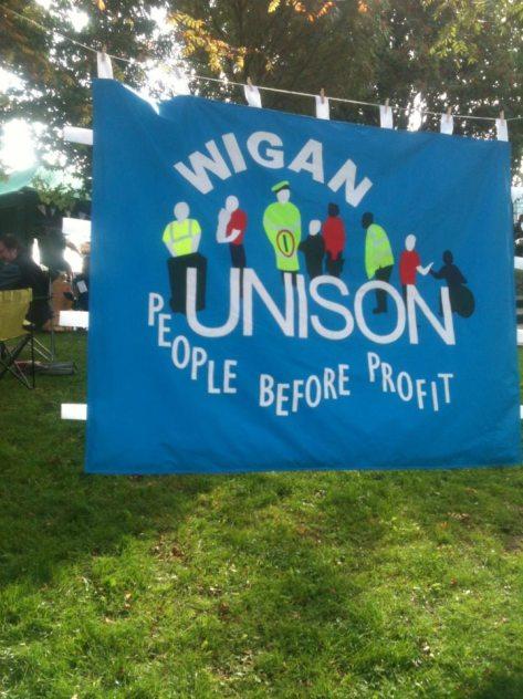 Wigan Unison Banner @ Wigan Diggers' Fest