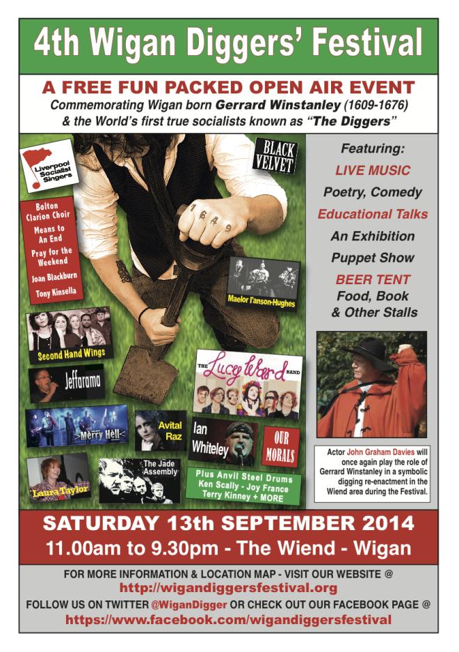 Wigan Diggers' Festival Poster