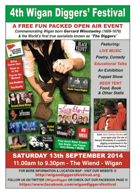 Wigan Diggers' Festival Poster
