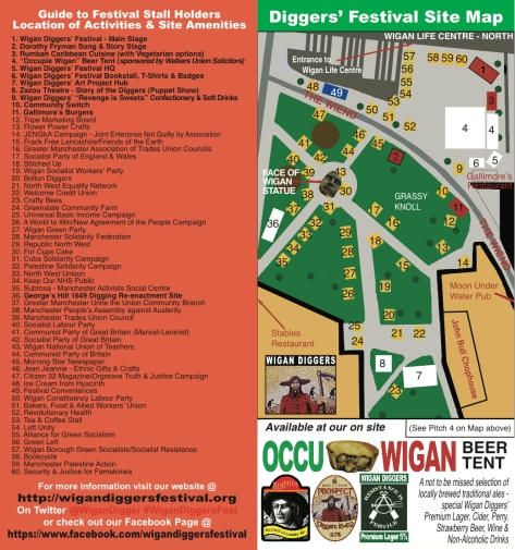 4th Wigan Diggers' Festival Site Map