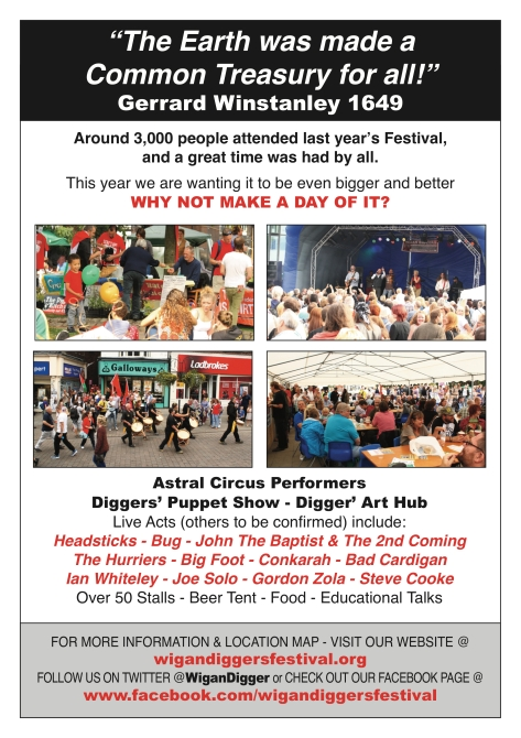 5th Wigan Diggers' Festival - Leaflet Artwork Reverse