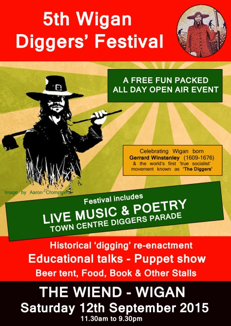 5th Wigan Diggers' Festival Leaflet Artwork