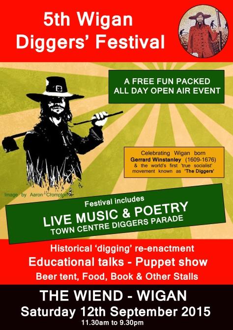 5th Wigan Diggers' Festival Leaflet Artwork