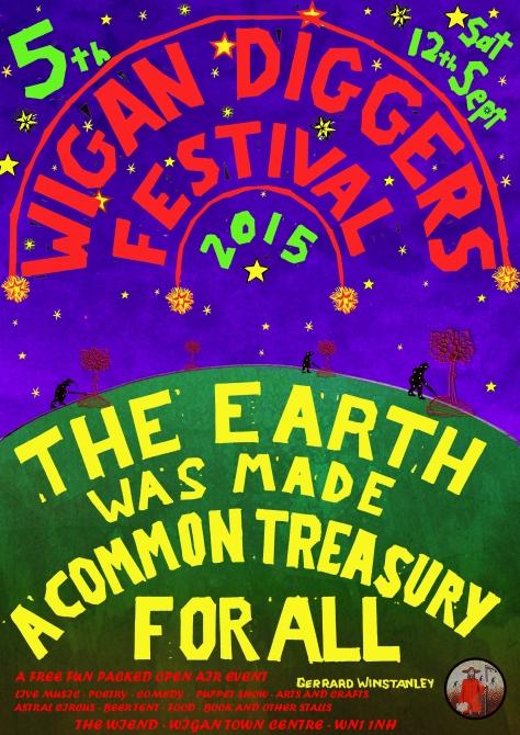 2015 Wigan Diggers' Festival Commemorative Poster
