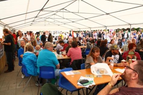 Scene from last year's Occupie Wigan Beer.