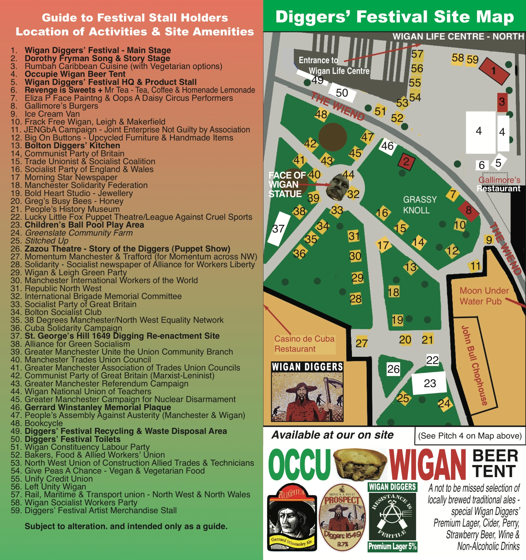 Site Map Example In Word: 6th Wigan Diggers' Festival