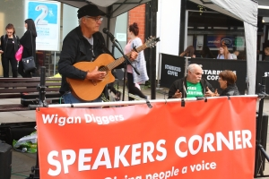 Wigan Diggers' Festival Speakers Corner