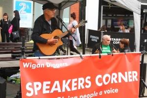 Wigan Diggers' Festival Speakers Corner